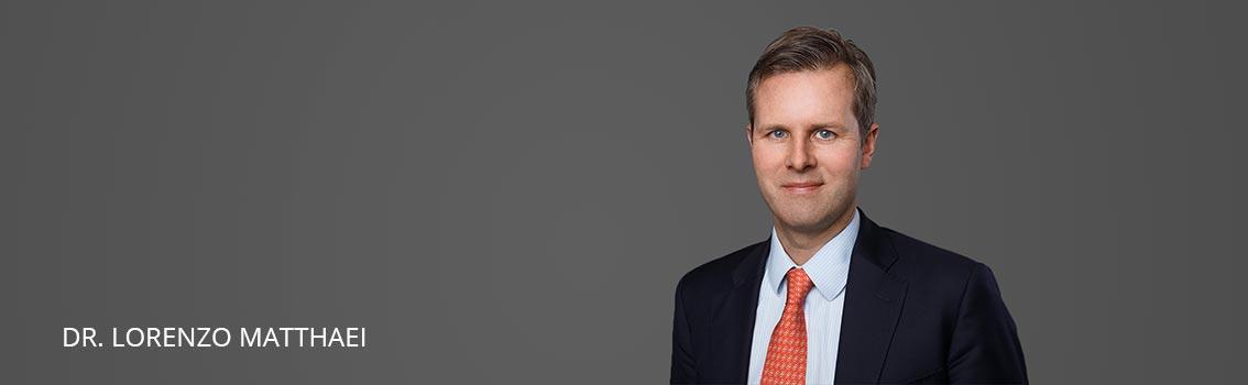 Dr. Lorenzo Matthaei FINKENHOF Attorneys at law Frankfurt Germany
